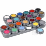 Grimas Ansigtsmaling - Sminkepalette, ass. farver, 24 frv. a 2,5 ml, 24x2,5 ml