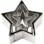Udstiksforme, 40x40 mm, stjerne, 3 ass.