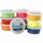 Foam Clay - sortiment, ass. farver, 10x35 g