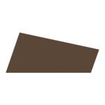 Mosgummi, 21x30 cm, mørk brun, 10 ark