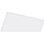 Mosgummi, 21x30 cm, hvid, 10 ark