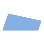 Mosgummi, 21x30 cm, lys blå, 10 ark