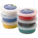 Silk Clay - sortiment, ass. farver, standard, 6x14 g