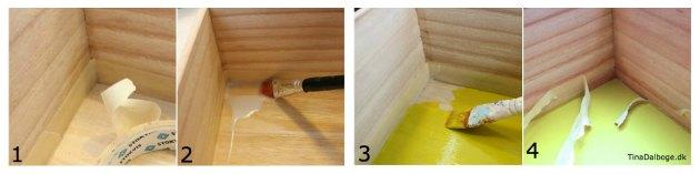 se hvordan du maler en skarp og lige kant i en traekasse