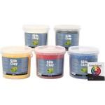 Silk Clay, ass. farver, Farveskolevejledning medfølger, 5x650 g
