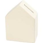 Sparebøsse, 9x12 cm, hvid, hus, 8 stk.