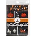 Halloween Klippepakke, silke- og harmonikapapir, karton, øjne, skabeloner