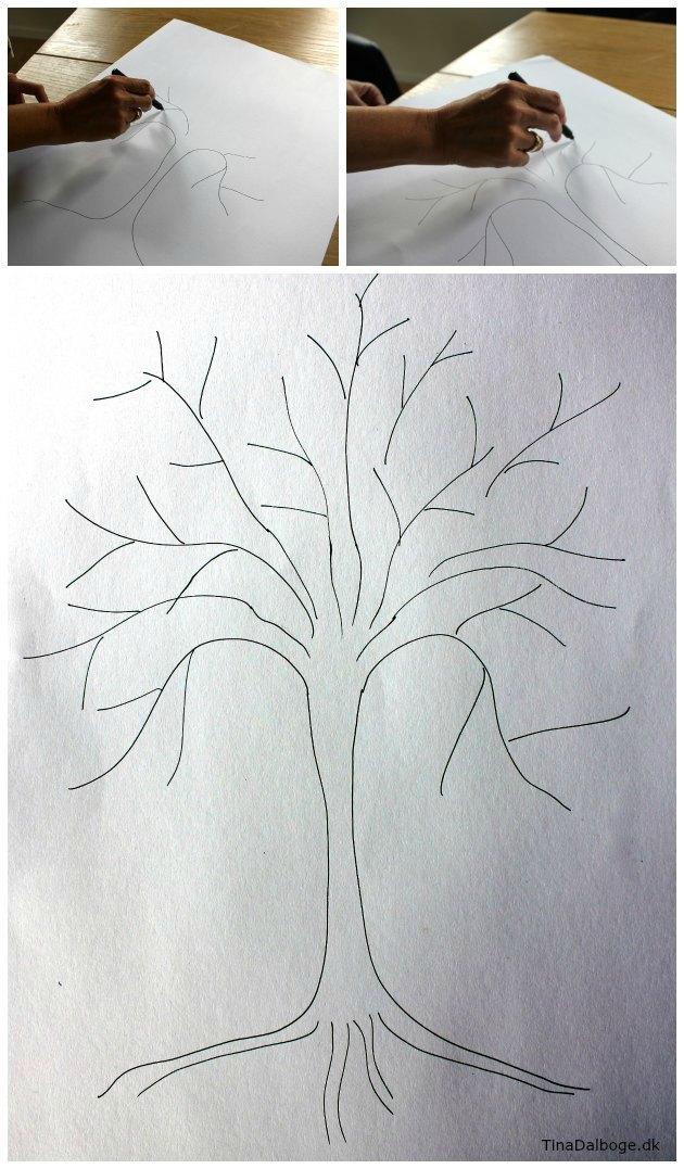 forslag til træ til fingeraftryk med stempelpuder