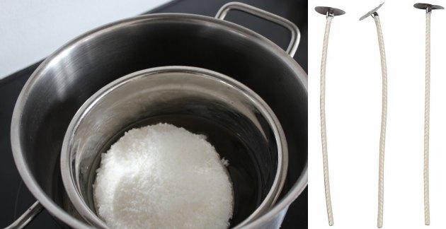 sådan smelter man stearinmix over vandbad