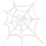 Spindelvæv, 19x21 cm, 16 stk.