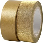 Designtape, B: 15 mm, guld, Copenhagen, 2 rl.