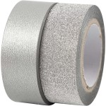Designtape, B: 15 mm, sølv, Skagen, 2 rl.