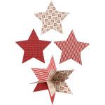 Stjerner, 18 stk, 15 cm, 300 g. karton = 3 stk 3D stjerner