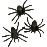 Edderkopper, 4 cm, 10 stk.