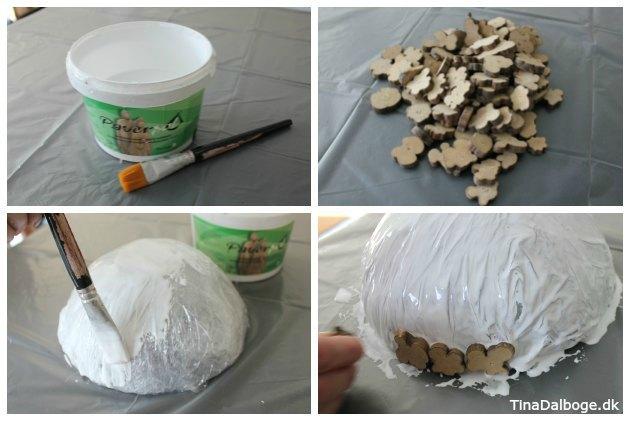 Trin for trin DIY skål med træmix og paverpol