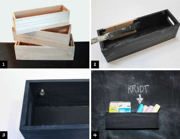 Boks til opbevaring af kridt