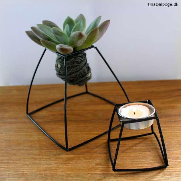 DIY planteholder og lysestage