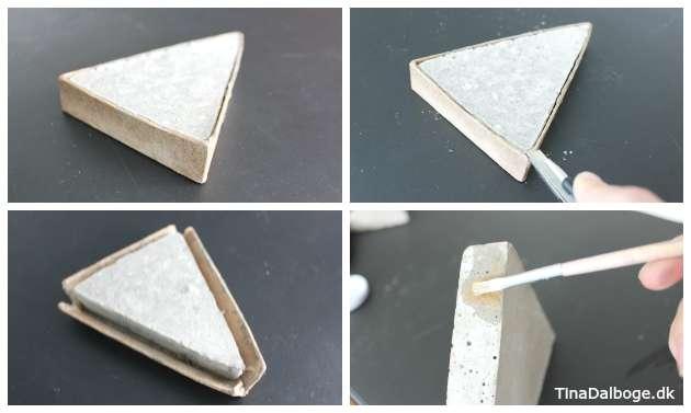 Papform med beton