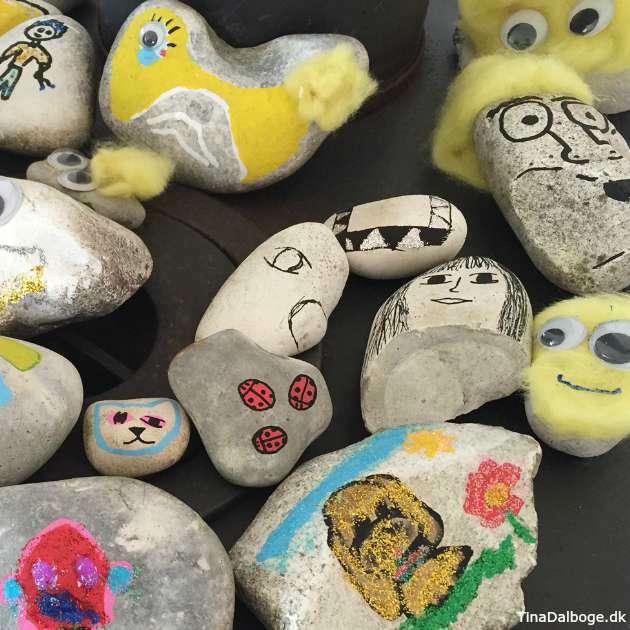kreativ aktivitet for børn - mal med poscatusser