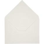 Kuvert, 11,5x16 cm, råhvid, 10 stk.