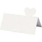 Bordkort, 85x80 mm, hvid, 20 stk.