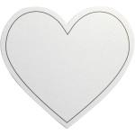 Hjerte, 75x69 mm, hvid, 10 stk.