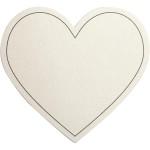 Hjerte, 75x69 mm, råhvid, 10 stk.