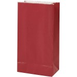 Papirspose, str. 9,5X5X17 cm, rød, 10 stk.