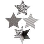 3D Stjerner, dia. 15 cm, Paris, 3 stk.