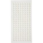 Halv-perler, 5 mm, hvid, 144 stk.