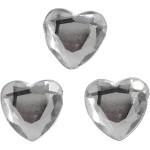 Rhinsten, 10 mm, sølv, hjerte, 150 stk.