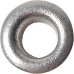 Snøreringe, 8 mm, sølv, 50 stk.