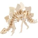 3D Puzzle med APP, 27x7,4x15 cm, krydsfiner, Stegosaurus, 1 stk.