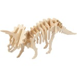 3D Puzzle med APP, 31x7,5x11,5 cm, krydsfiner, Triceratops, 1 stk.