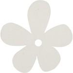Blomst, 57x51 mm, råhvid, 10 stk.