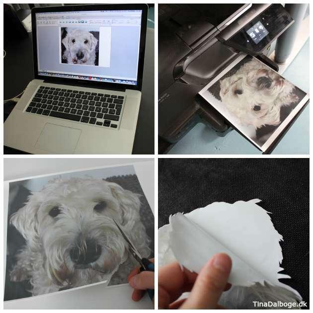 Trin-for-trin-print-på-pude med transferpapir