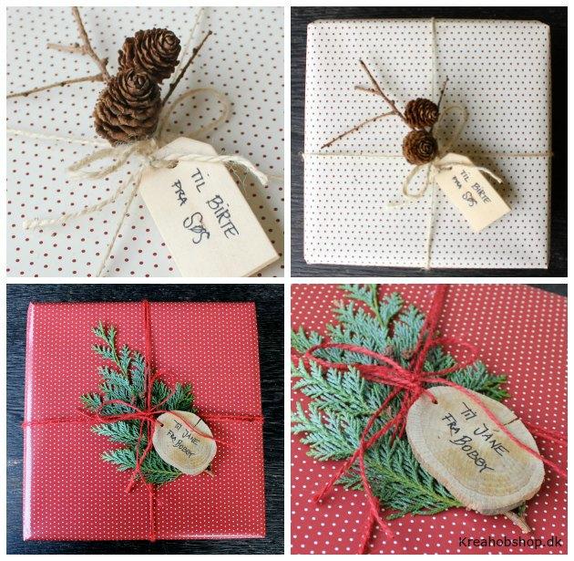 forslag og ideer til indpakning af julegaver kreahobshop