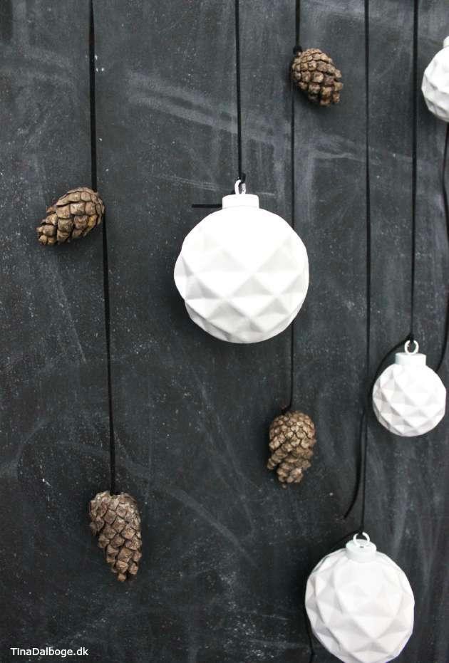 julekugler diy hængt op i lædersnøre kreahobshop