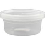 Plastbøtte med låg, H: 38 mm, 20 stk., 125 ml