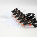 Limpistoler og lim, 6 mini-limpistoler, lavtemp. 200 limstænger