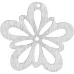 Blomst, 27 mm, råhvid, 20 stk.