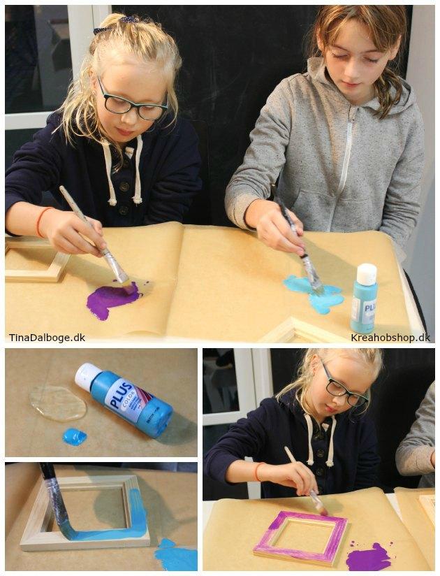 gaver børn kan lave bordskåner malet med porcelænstuscher