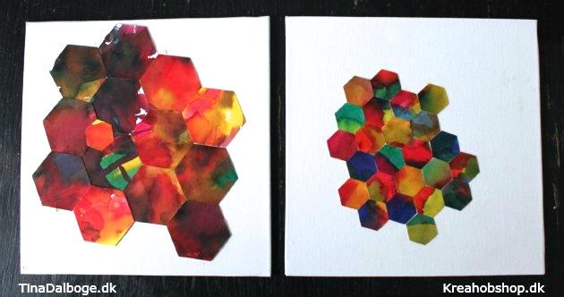 ide til hvad børn kan lave af gaver flydende akvarel lavet med udstanser