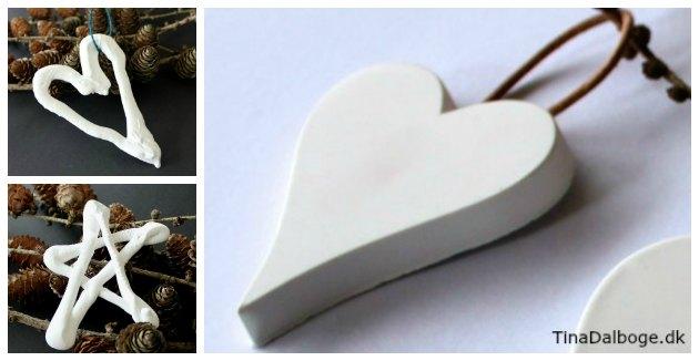 støbemasse cera-mix stjerner og hjerter hårdt som porcelæn