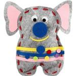 Filt Friends, 14x20 cm, elefant, 1 sæt