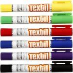 Playcolor Tekstilfarver, 14 cm, 6x5 g