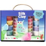 Silk Clay® gaveæske 10 x 40 g, 18 x 14 g, 3 x værktøj