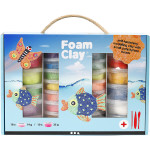 Foam Clay® gaveæske, ass. farver, 1 sæt
