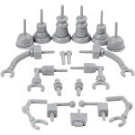 Robotdele, str. 0,5-6 cm, grå, 19ass.