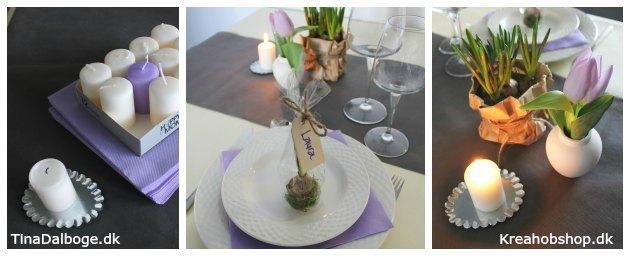 pynt og ideer til påskebord eller forårsfest materialer fra kreahobshop